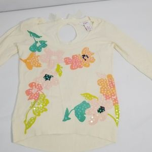 Candies ivory floral sweater